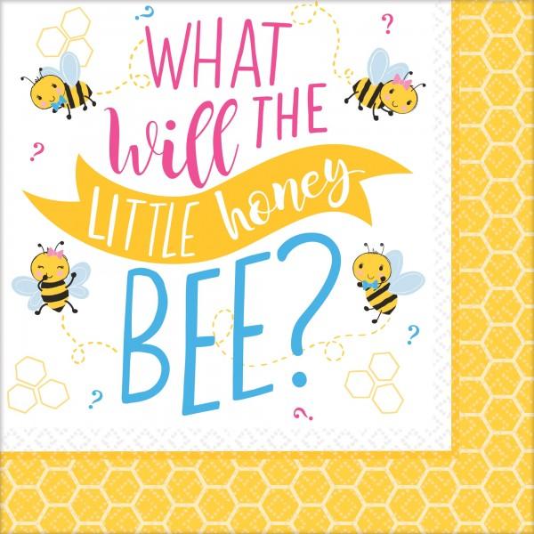 16 Baby Bienen Servietten 33cm