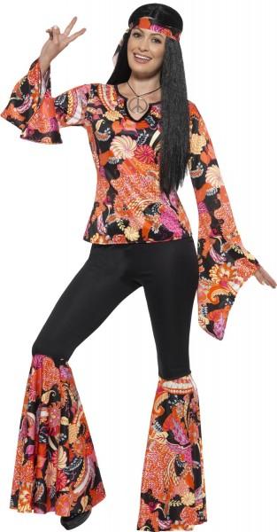 Hippie Discolady Kostüm Davina 1