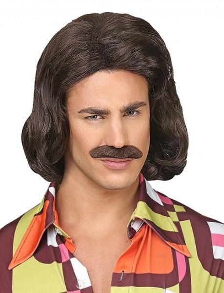 70er Sugardaddy Perücke mit Schnurrbart