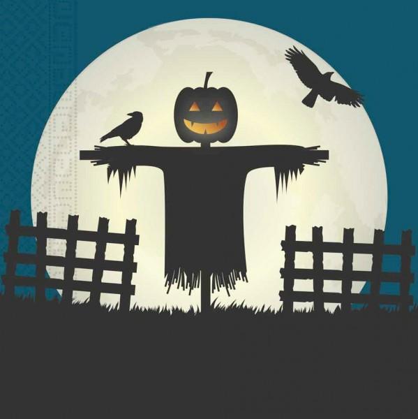 20 Halloween Scary Moon servetten 33cm