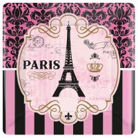8 Tag in Paris Teller eckig 25,4cm