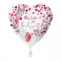 Alles Liebe zur Hochzeit Folienballon 43cm