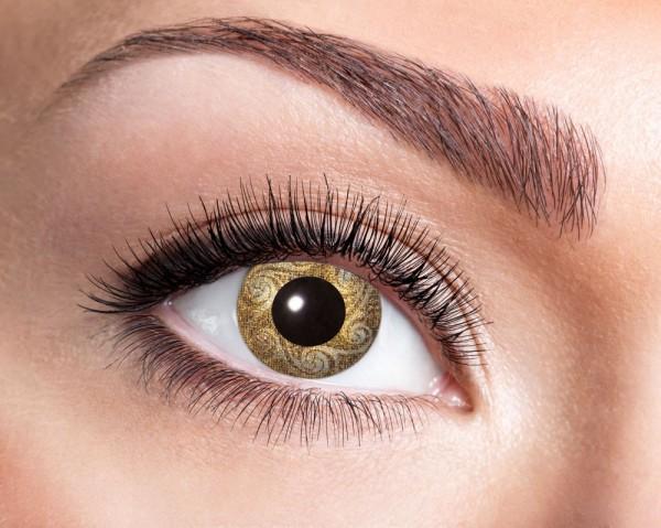 Kontaktlinse Goldene Schnörkel