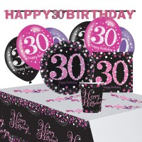 Pink 30th Birthday Deko Set 41-teilig