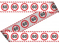Traffic sign 60 barrier tape 15m