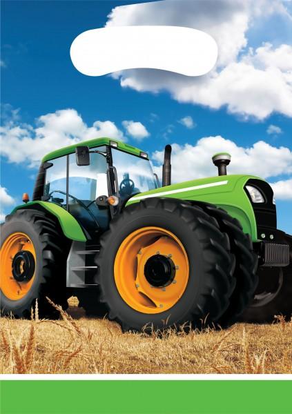 8 Traktor Party Geschenktüten 16 x 23cm