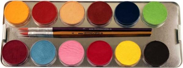 Make-Up Palette Mit 24 Farben Und 3 Pinseln