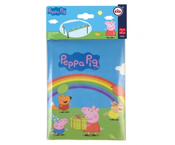 Peppa Wutz Regenbogen Tischdecke 1,2 x 1,8m