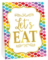 Buntes Buffet Deko Set Lets eat