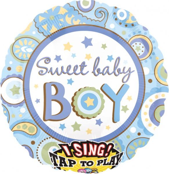 Singing sweet baby boy balloon