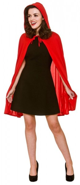 Red hooded cape Alice for women