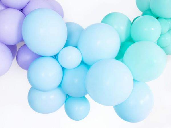 100 Partystar Luftballons babyblau 12cm