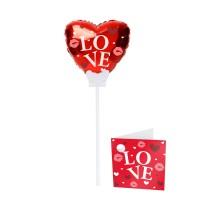 Folienballon mit Stab Love