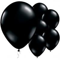 25 schwarze Latexballons Finster 28cm