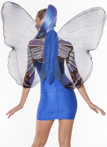 Schmetterlings Feen Flügel Blau