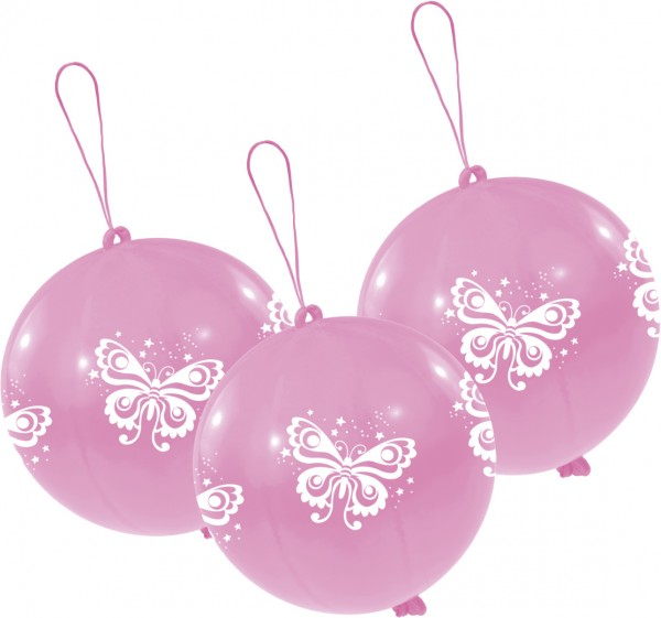 3er-Set Punchballs Beautiful Butterfly