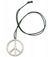 Hippie Peace Zeichen Halskette