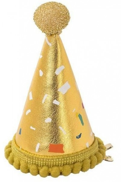 Pompous mini fabric party hat