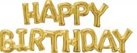 Folienballons Happy Birthday Gold