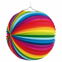 Rainbow Party Lampion Colourful Birthday 25cm