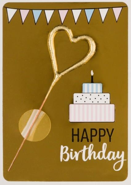 Golden Happy Birthday Wondercard