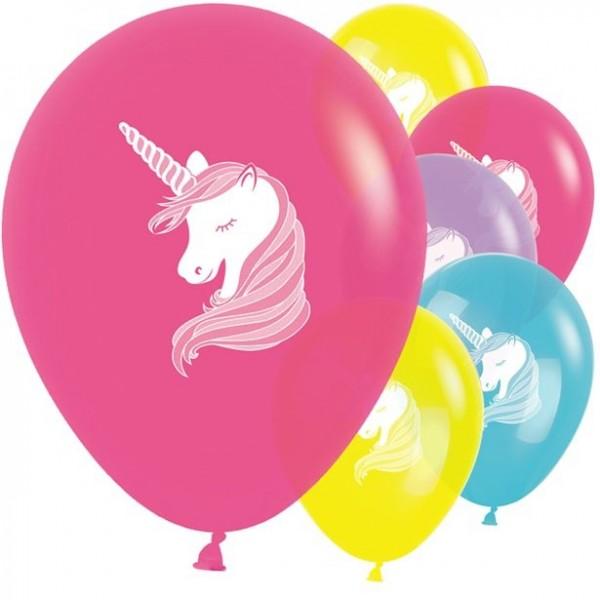 10 Edles Einhorn Latexballons 30cm