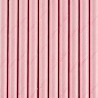 10 Papier Strohhalme rosa 19,5cm
