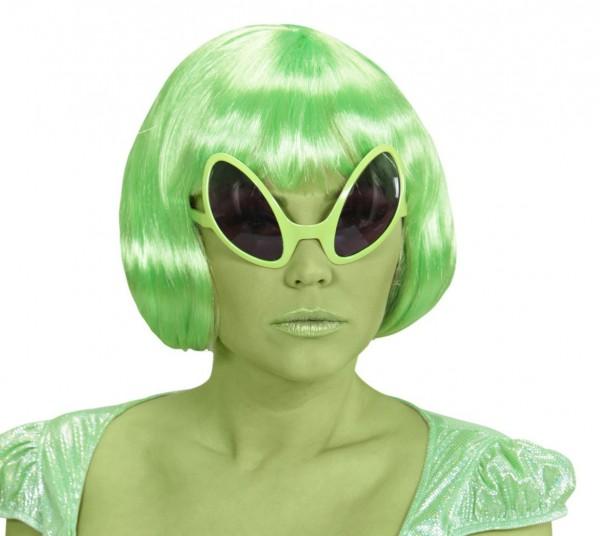 Spacy Alien Sonnenbrille Neon Gelb