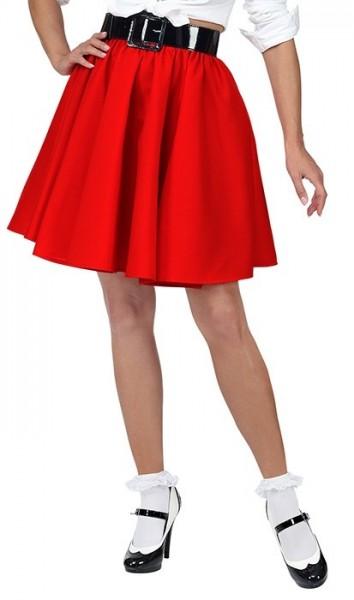 Jupe des années 50 pour femme rouge
