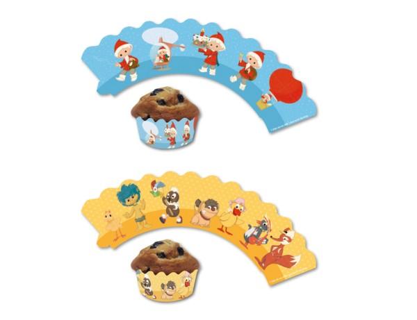 12 Sandmännchen Muffin Banderolen