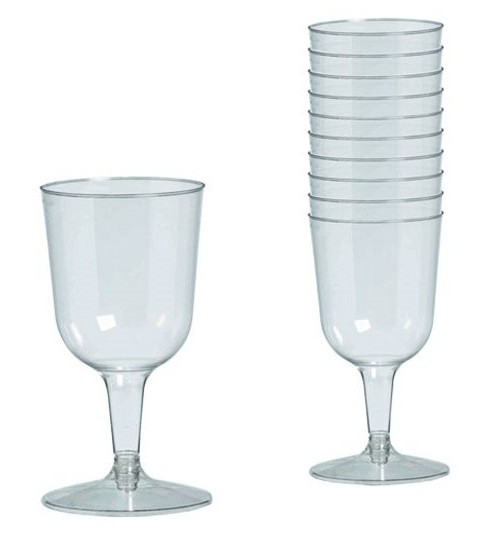 32 verres à vin transparents 162ml