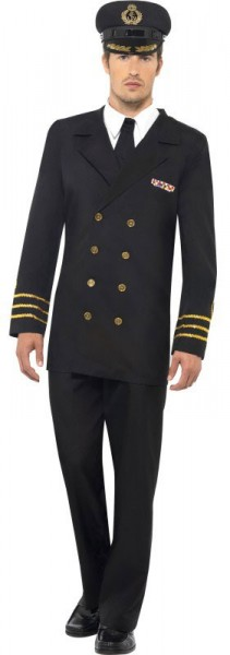 Eleganter Marine Offizier Herrenkostüm