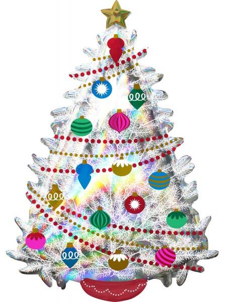 Ballon arbre de Noël holographique 66 x 91 cm