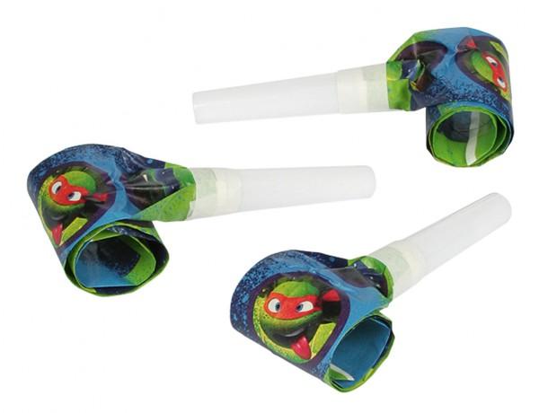 Verrückte Ninja Turtles Luftrüssel Tröte 6 Stück