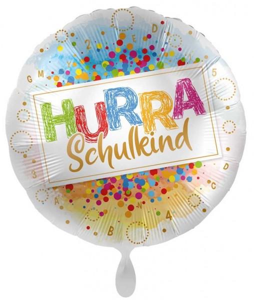 Hurra Schulkind Konfetti Folienballon 71cm