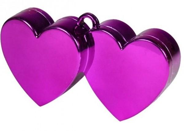 Gewicht dubbele hartballon in paars 170 g