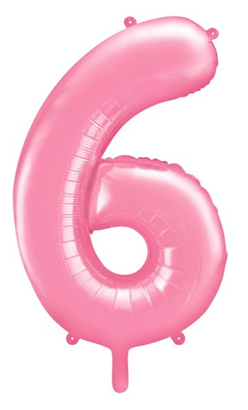 Globo foil numero 6 rosa 86cm