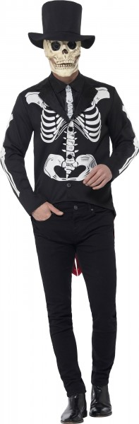 Jack Skeleton Shirt met rok herenkostuum