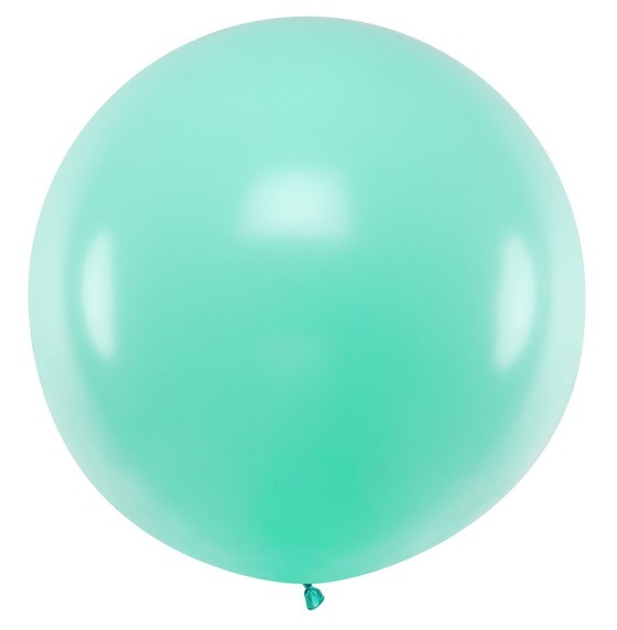XXL balloon party giant mint 1m