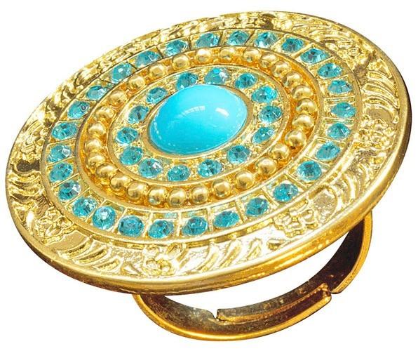 Cleopatra Ring Mit Türkisen Steinen