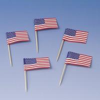 200 American Spirit Flaggen Party Spieße 8cm