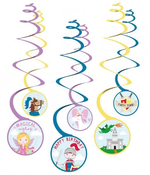 6 Prinzessin & Ritter Spiralhänger