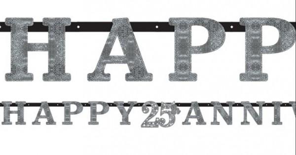 Decorazione d'attaccatura dell'anniversario d'argento felice 25