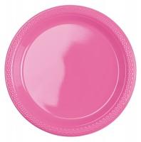 20 Kunststoff Teller Mila rosa 17,7cm
