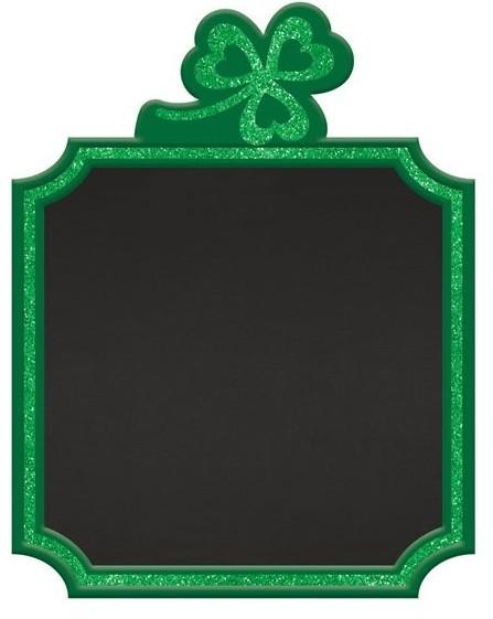 St Patricks Day Kleeblatt Kreidetafel 23cm