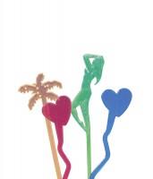 50 Carribbean Love Rühstab Bunt Transparent