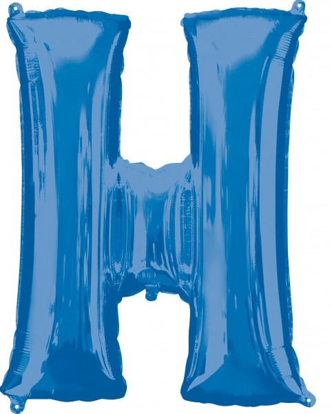 Ballon aluminium lettre H bleu XL 81cm