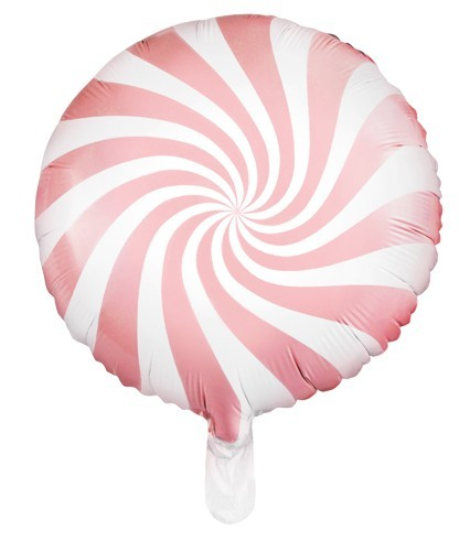 Candy Swirl Foil Balloon Light Pink 45cm