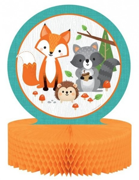 Forest animals honeycomb table display 30 x 23cm