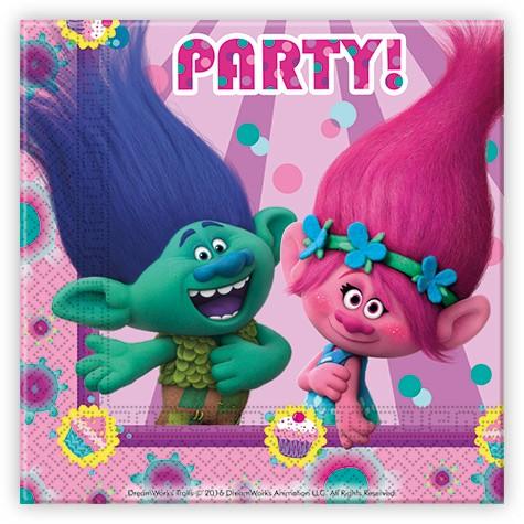 20 Troll Party Papier Servietten33x33cm